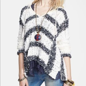 Free People Cali Love Hooded Sweater Boho Sz M